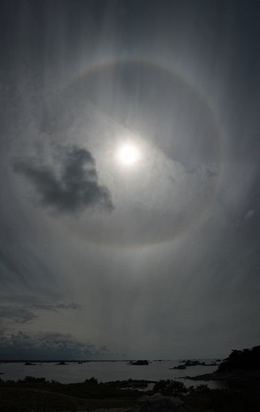 The Sun and its halo.
